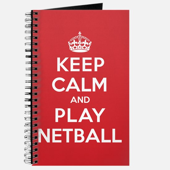 Keep Calm Play Netball Journal