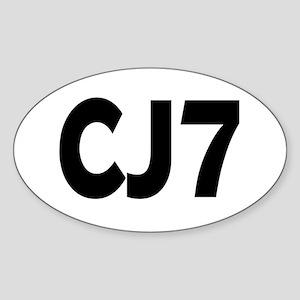 Jeep CJ7 Sticker (Oval)
