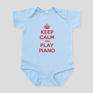 Keep Calm Play Piano Infant Bodysuit