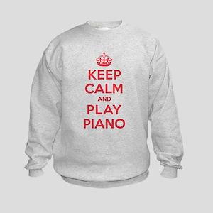 Keep Calm Play Piano Kids Sweatshirt