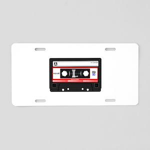 Cassette Black Aluminum License Plate