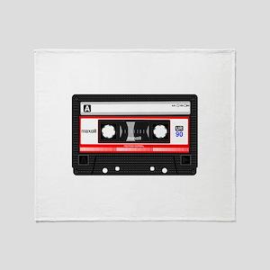 Cassette Black Throw Blanket