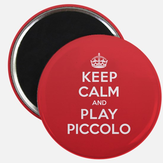 Keep Calm Play Piccolo Magnet