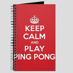 Keep Calm Play Ping Pong Journal