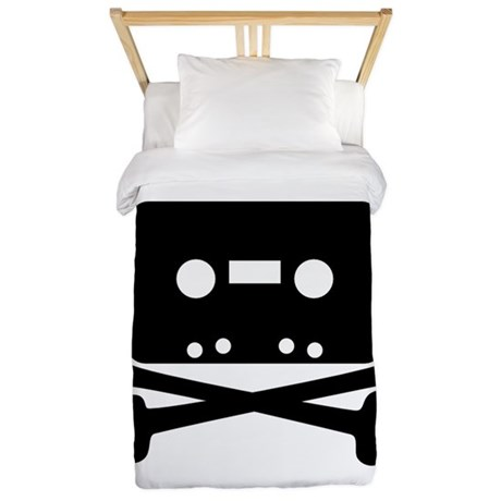 Cassette Jolly Roger Black Twin Duvet