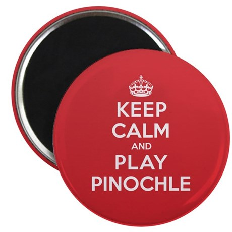 "Keep Calm Play Pinochle 2.25"" Magnet (10 pack)"