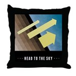 Head To The Sky Throw Pillow