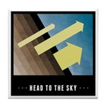 Head To The Sky Tile Coaster