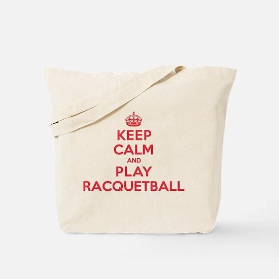 Keep Calm Play Racquetball Tote Bag
