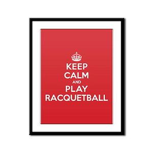 Keep Calm Play Racquetball Framed Panel Print