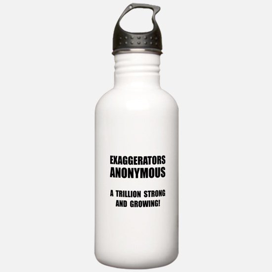 Exaggerators Anonymous Black Water Bottle