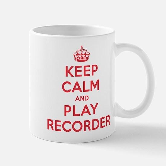 Keep Calm Play Recorder Mug