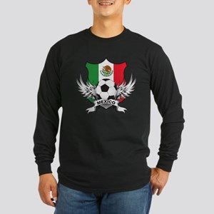 Mexico World Cup Soccer Long Sleeve Dark T-Shirt