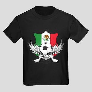 Mexico World Cup Soccer Kids Dark T-Shirt