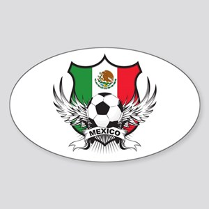 Mexico World Cup Soccer Sticker (Oval)