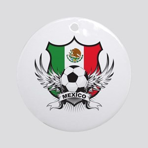 Mexico World Cup Soccer Ornament (Round)