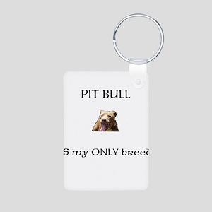 Pitt Bull Aluminum Photo Keychain