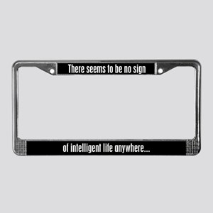 Kirk Quote Intelligent Life License Plate Frame