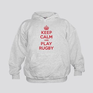 Keep Calm Play Rugby Kids Hoodie