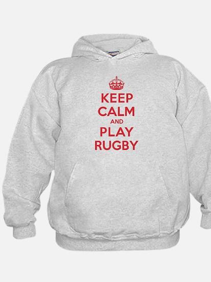 Keep Calm Play Rugby Hoodie
