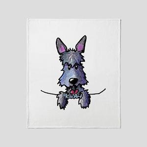 Pocket Scottie Dog Throw Blanket