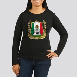 Mexico World Cup Soccer Women's Long Sleeve Dark T