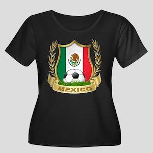Mexico World Cup Soccer Women's Plus Size Scoop Ne