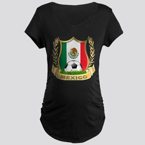 Mexico World Cup Soccer Maternity Dark T-Shirt