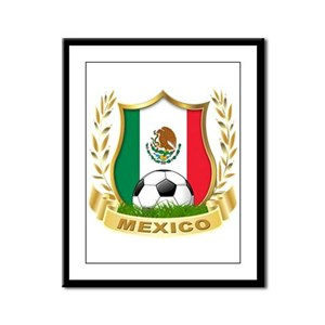 Mexico World Cup Soccer Framed Panel Print