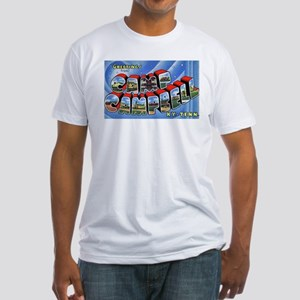Camp Campbell KY TN (Front) Fitted T-Shirt
