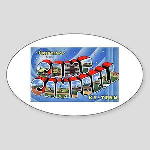Camp Campbell KY TN Oval Sticker