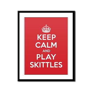 Keep Calm Play Skittles Framed Panel Print