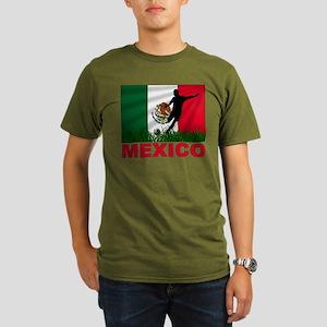 Mexico World Cup Soccer Organic Men's T-Shirt (dar