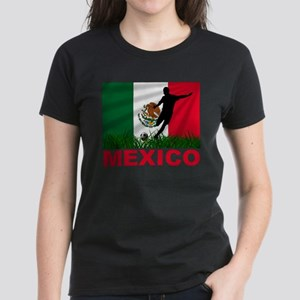 Mexico World Cup Soccer Women's Dark T-Shirt
