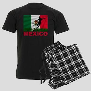 Mexico World Cup Soccer Men's Dark Pajamas