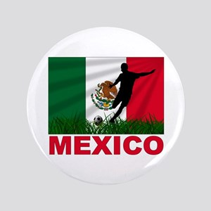 "Mexico World Cup Soccer 3.5"" Button"