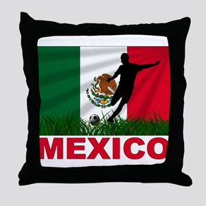 Mexico World Cup Soccer Throw Pillow