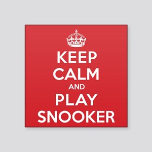 "Keep Calm Play Snooker Square Sticker 3"" x 3"""