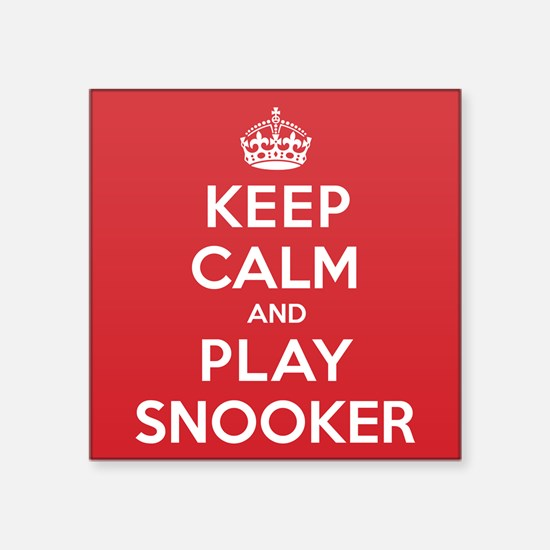 """Keep Calm Play Snooker Square Sticker 3"""" x 3"""""""