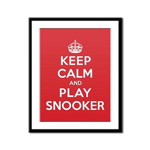Keep Calm Play Snooker Framed Panel Print