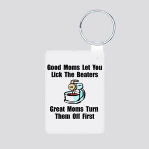 Mom Lick The Beaters Aluminum Photo Keychain