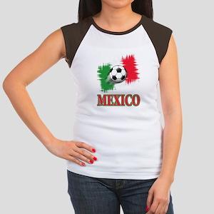Mexico World Cup Soccer Women's Cap Sleeve T-Shirt