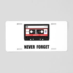 Never Forget Cassette Black Aluminum License P