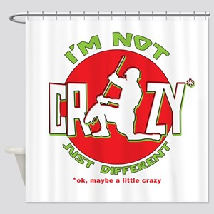 Im Not Crazy (lacrosse) Shower Curtain