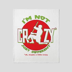 Im Not Crazy (lacrosse) Throw Blanket