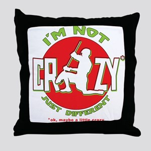Im Not Crazy (lacrosse) Throw Pillow