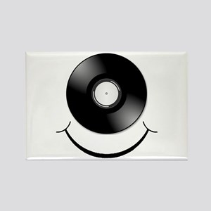 Vinyl Smile Black Rectangle Magnet (10 pack)