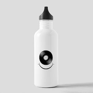 Vinyl Smile Black Stainless Water Bottle 1.0L