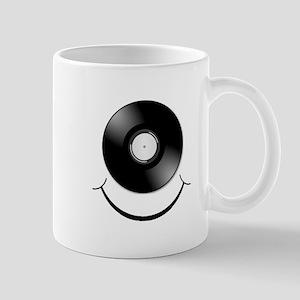 Vinyl Smile Black Mug