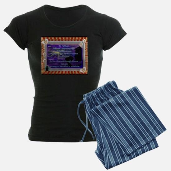 To Father, Poem on Women Dark Pajamas